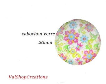 X 1 ornate 20mm glass Cabochon