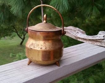 Fire Starter Pot Brass Smudge Pot