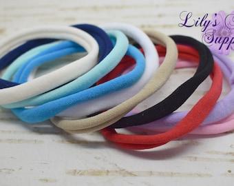 Soft NylonHeadbands, Choose Colors, Baby headbands, Wholesale Headbands, Soft Stretchy  Headbands, DIY Headbands, Nylon Headbands, Nylon