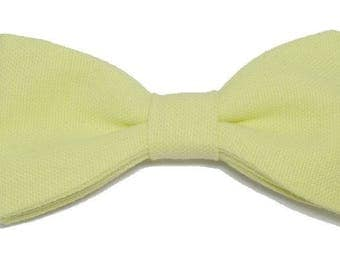 Lime green bowtie with straight edges