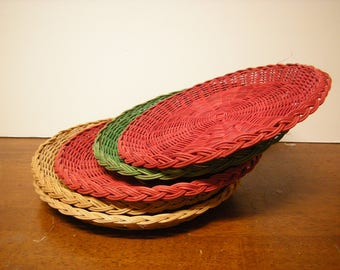 5 vtge paper plate holders-wicker-outdoor dining-camping-pic nick-kitchen and dining-houseware-
