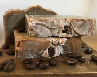 Doppio™ - Handmade Organic Coconut Oil Cold Process Soap - Espresso Coffee Fragranced
