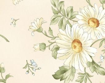Clusters of Daisies All Over, Tonal Beige, Gentle Breeze, Jan Douglas, Maywood (By YARD)~