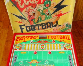 Vintage Colorful Jim Prentice Electric Football Game - 1940-50's