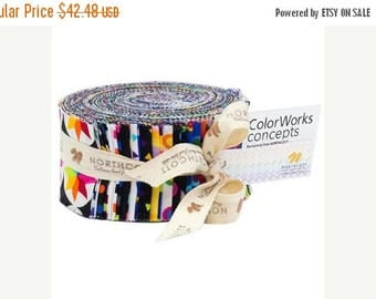 Summer Sale- Northcott Colorworks Jelly Roll, 40 2.5x44-inch Cotton Strips Fast Shipping, JR357