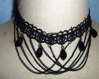 Victorian lace Choker necklace