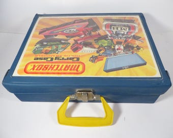 Vintage Matchbox Cars and Carrying Case - 1970's Matchbox Cars Made in England