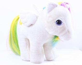 Vintage 80s G1 My Little Pony Hasbro Softies Plush Starshine, 80s My Little Pony, Plush My Little Pony, Hasbro Softies, Carnival, G1 MLP