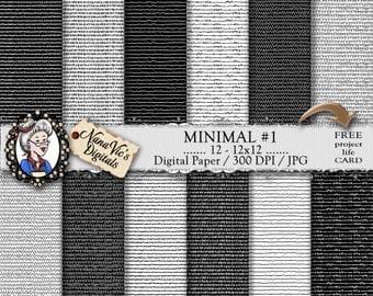 Minimal Digital Paper, black & white minimalist patterns, minimal textures, simple backgrounds,  Printable, photography, hand drawn patterns