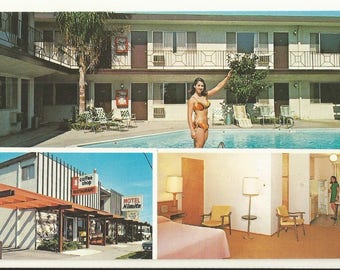 1960s Chrome Postcard- Roadside View of Motel Nimitz, San Leandro, Alameda County, California, CA. ~ Free Shipping