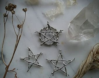 Custom Crafted Witching Tree Pentacle or Pentagram Ring ~ Made to Fit~ Pentacle Ring