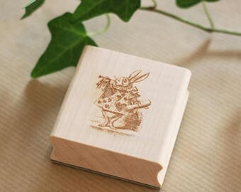 Trumpet rabbit stamp