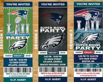 Super Bowl Invitation Ticket