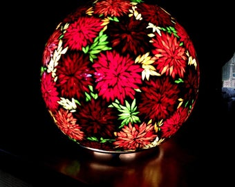 To order. The garden of Arabian nights. Mosaic stained glass and glass ball lamp.