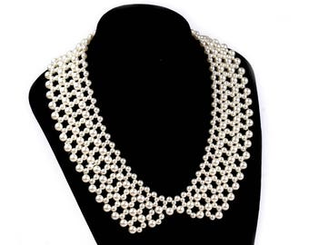 Pearl effect necklace dim Interior 53 cm collar