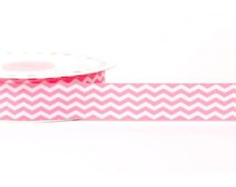 3 M Ruban 22 mm polyester pink white stripes