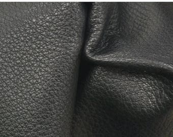 "NZ Deer Sale Black with Brown Undertones Leather New Zealand Deer Hide 8"" x 10"" Pre-cut 4-5 ounces flat grain EL-41778 (Sec. 3,Shelf 4,A)"