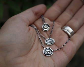 THIRD EYE CHOKER - Sterling Silver Pendant