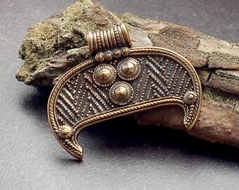 Woman amulet lunula-Lunnitsa-Pagan amulet-Moon amulet woman-Slavic talisman-Moon slavic jewelry-Slavic charm-Lunula pendant-Lunula charm