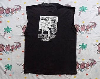 Vintage 80's Operation Ivy cut off Sleeveless T shirt, size XL 1989 Lookout Records muscle tee