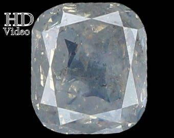 0.99 Ct Natural Loose Diamond Cushion Shape Fancy White Color 5.90 MM L7822 BKK