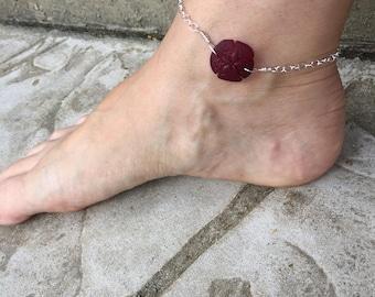 Sand Dollar Anklet Sea Glass Anklet Sand Dollar Jewelry Sea Glass Jewelry Cute Anklet Bracelet Made in USA Cute Anklet