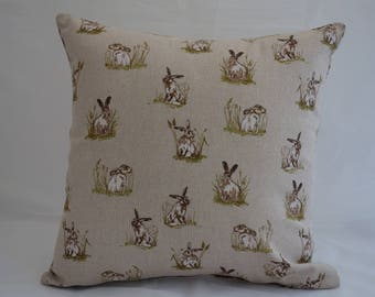 Pillow - Rabbit design feature cushion, complete with cushion pad, zip fastening
