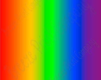 Rainbow Ombre print craft  vinyl sheet - HTV or Adhesive Vinyl -  fade gradient print vinyl  HTV3111