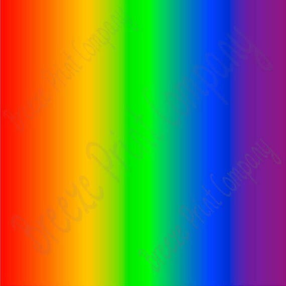 Rainbow Ombre Print Heat Transfer Vinyl Sheet Fade Gradient