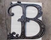 Black Distressed Letter B...
