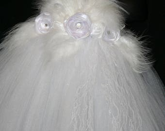 Angel Tutu Costume, White Tutu Dress, Tutu Dress, Flower Girl Tutu Dress, Flower Girl, WhiteTutu Dress