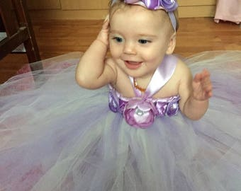 Lilac Flower Girl Tutu Dress, Tutu Dress, Lilac Flower Girl Dress, Purple Tutu Dress, Flower Girl Dress, Weddings, Baby Tutu Dress, Lavender