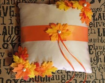 Love in Autumn Ring Bearer Pillow