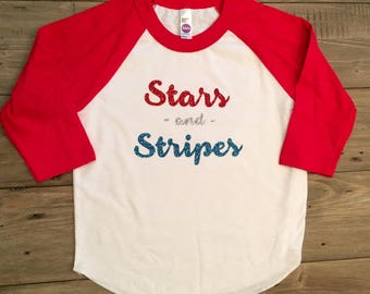 Stars and Stripes toddler t-shirt
