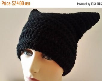ON SALE Pussyhat - Womens March On Washington, Pussyhat Project, Black Pussycat Hat, Cat Beanie, Pink Cat Hat, Pussy Cat Hat, Pussy Hat