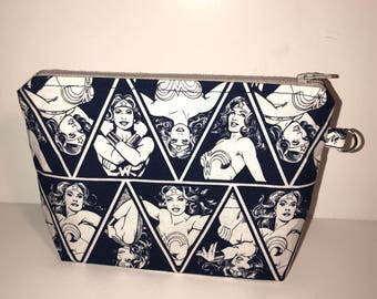 Wonder Woman Makeup bag | Justice League Gift | Made to Order
