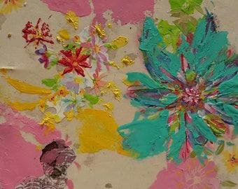 Art Photos - Flower #5 - Mixed Media Collage