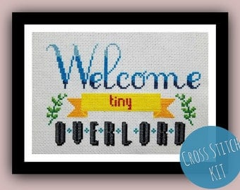 Welcome Tiny Overlord Cross Stitch Kit