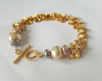 Seashell And Pearl Bracelet