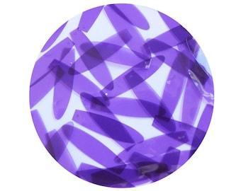 Long Drop Vinyl Shape Top Hole 1.5 inch Purple Go Go Transparent