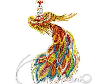 MACHINE EMBROIDERY DESIGN - Firebird