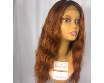 "READY TO SHIP same day !! -- 20""  Brazilian Straight 100% Virgin Top Grade Hair Wig w/ Realistic Lace Closure"