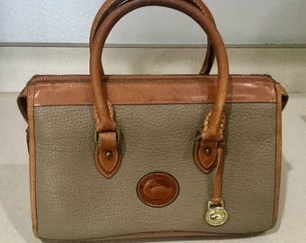 Dooney and Bourke Satchel All Weather Leather with British Tan