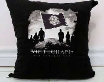 Whitechapel Pillow DIY Deathcore Decor B6 - Made to Order