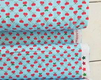 Tiny Happy Lucky - Cherries(Aqua) - Cynthia Frenette - Robert Kaufman - Sewing Fabric - Tiny print fabric - Quilt fabric