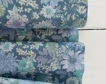Memoire a Paris Cotton Lawn Fall 2017 - Large Floral (Teal)  - Lecien - Japan, Inc