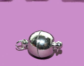 4 magnetic 12mm silver color clasps
