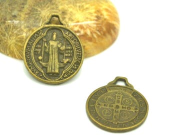 10 medals religious bronze 16mm
