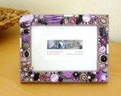 picture frame, rhinestone, vintage jewellery photo frame, button art, mosaic art, wooden wedding photo frame, jewelled, christmas gift women