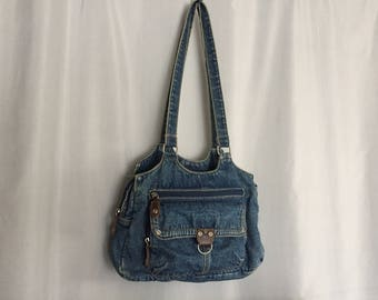 Denim Tote Bag Vintage Purse
